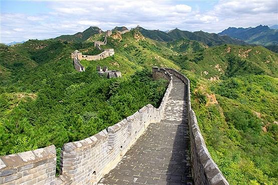 دیوار بزرگ چین در موتی یانیو شهر پکن چین
