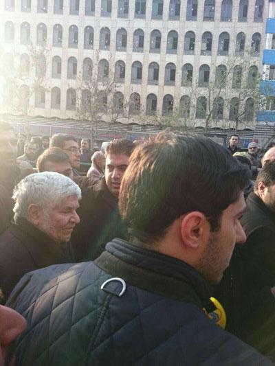 محمد هاشمی در مراسم تشییع