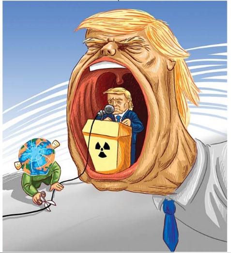 کاریکاتور ایران و ترامپ