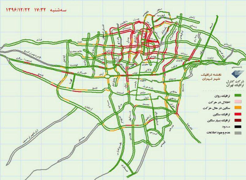 نقشه ترافیک