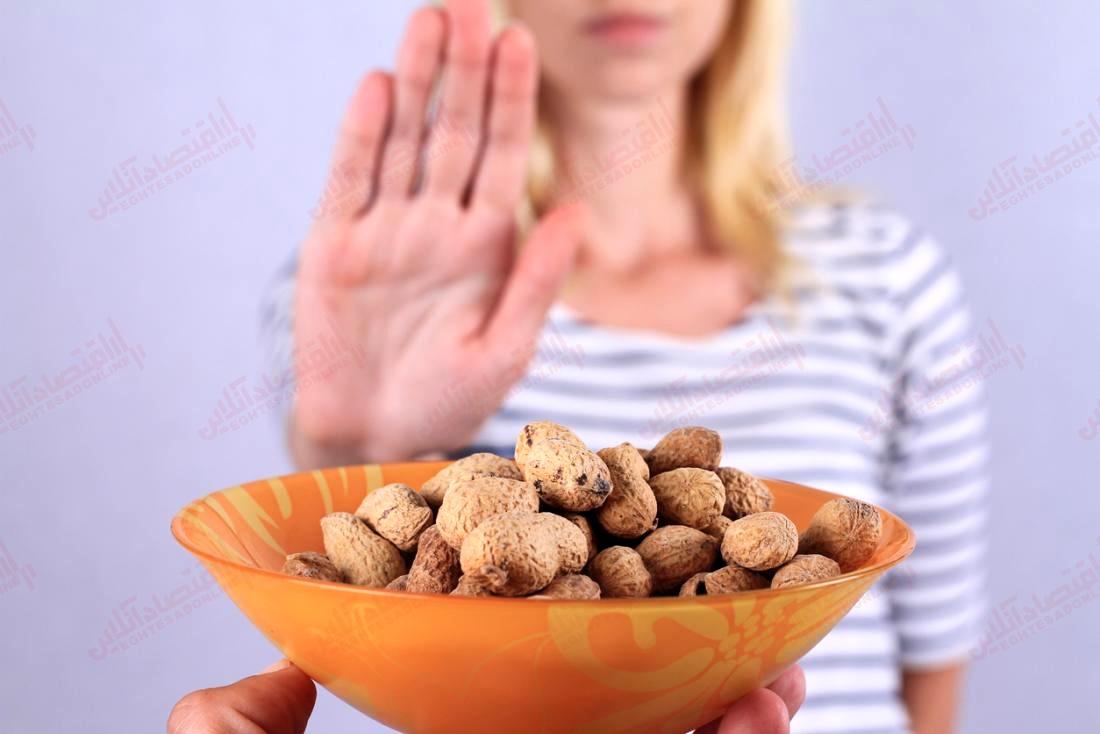بادام زمینی ممنوع