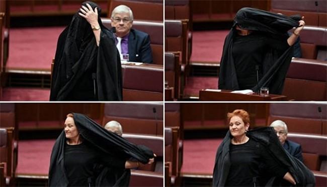 حرکت نماینده زن پارلمان استرالیا علیه برقع