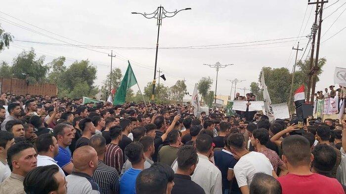 تجمع معترضان به نتایج انتخابات در کربلا