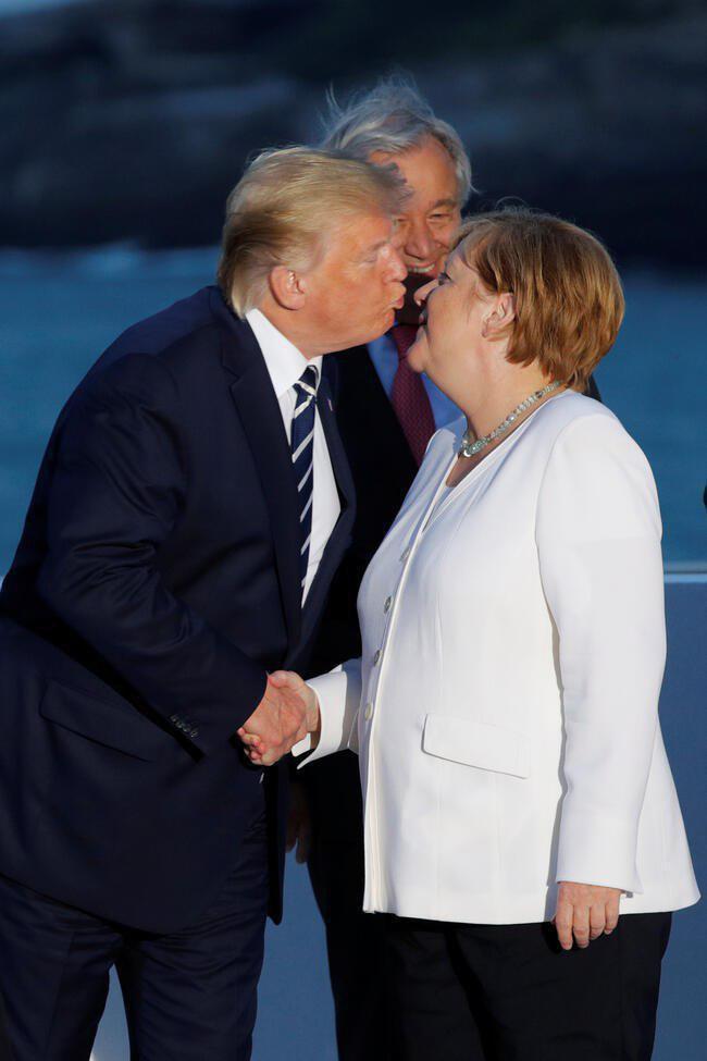 آنگلا مرکل و دونالد ترامپ