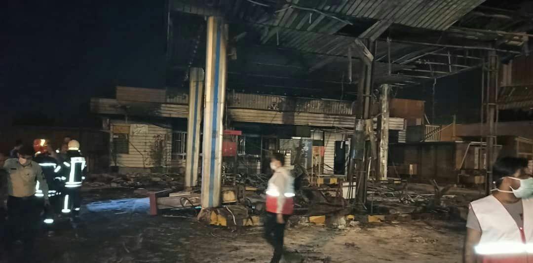 انفجار جایگاه سوخت تاکستان