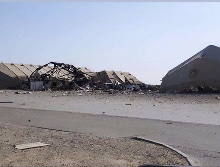 تصاویر منتشر شده از پایگاه عین الاسد