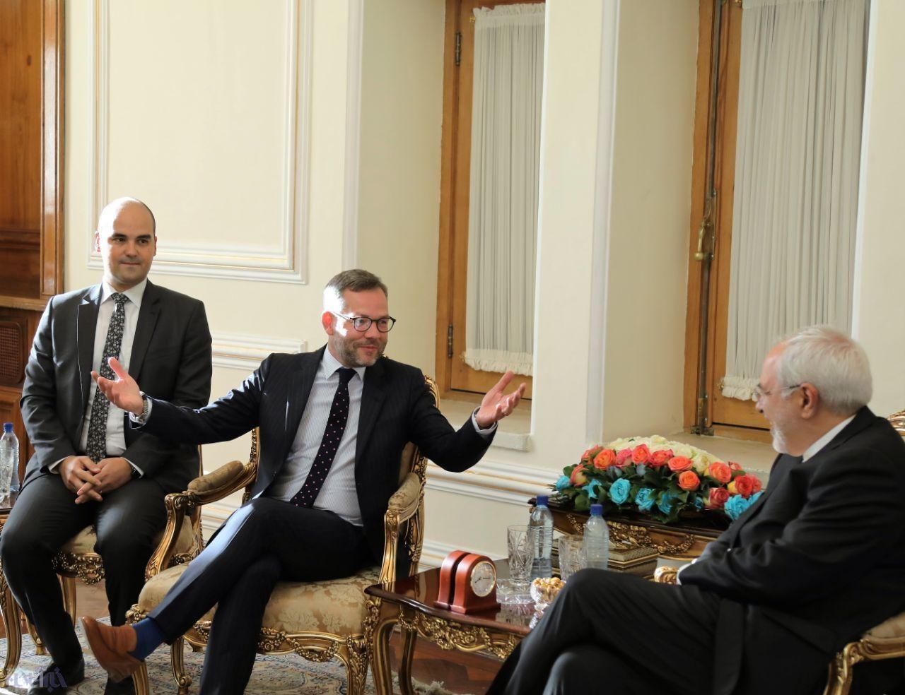 محمد جواد ظریف و وزیر مشاور در وزارت خارجه آلمان