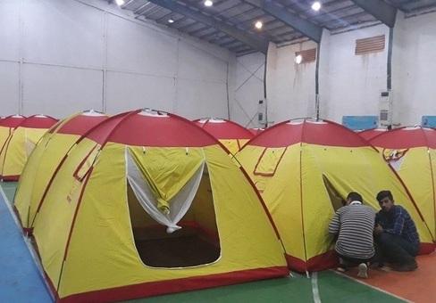 کمپ سیل زدگان اهواز