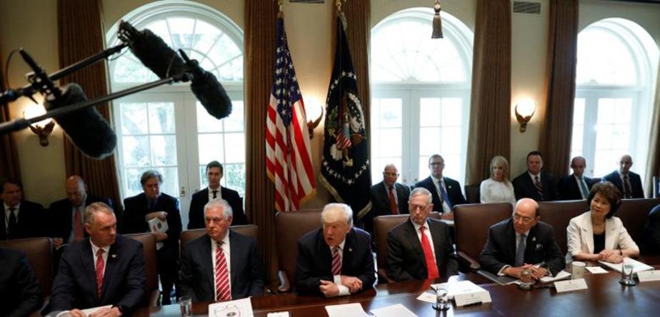 اولین جلسه کابینه ترامپ