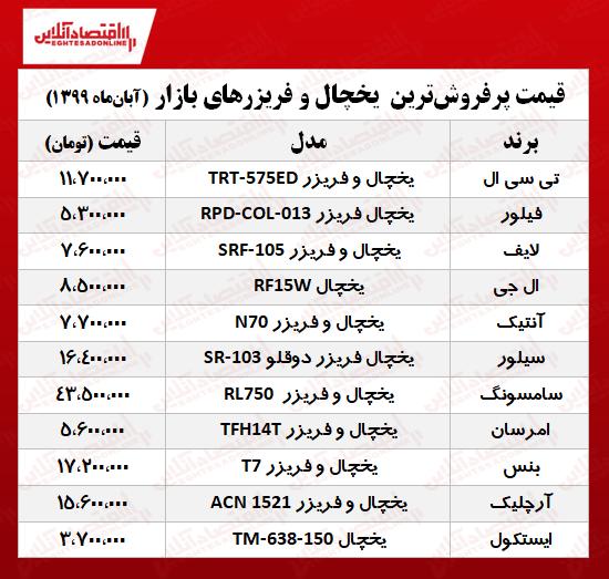 پرفروش ترین یخچال فریزر ایرانی