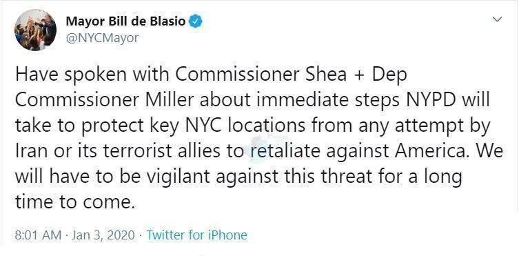 شهردار نیویورک