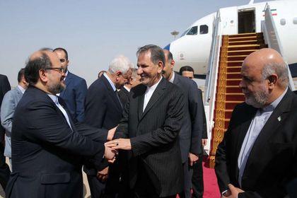 ورود جهانگیری و وزرای دولت به عراق +تصاویر