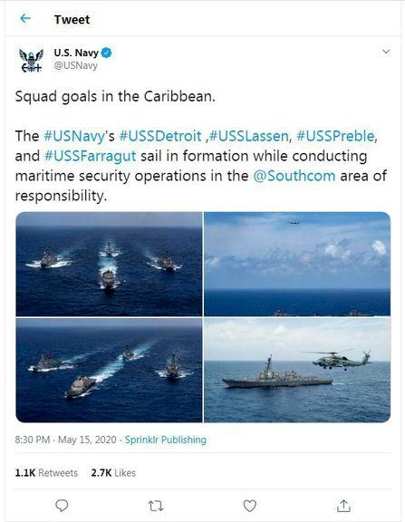 نیروی دریایی ایالات متحده در واکنش به نفتکشهای ایرانی به حرکت درآمد