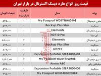 مظنه انواع هارد دیسک اکسترنال در بازار تهران؟ +جدول