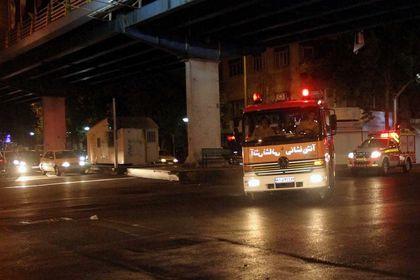 مانور اطفاء حریق در بازار علاءالدین +عکس