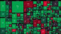 نقشه بازار سهام بر اساس ارزش معاملات/ سبزپوشی بازار در دقایق اولیه معاملات