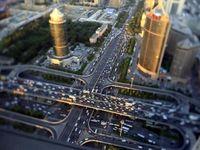 بزرگراه چند طبقه Guomao در چین +عکس