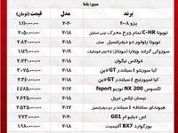 قیمت خودروهای شاسیبلند تهران +جدول