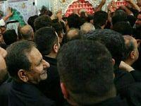 حضور جهانگیری در حرم امام علی +عکس