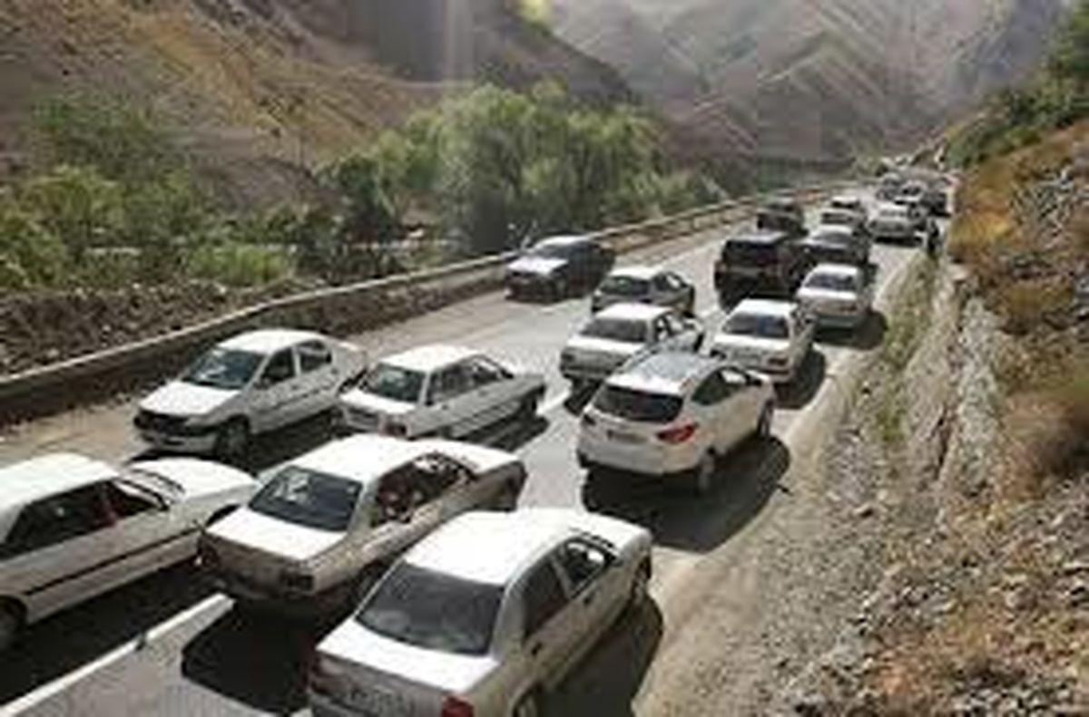 ترافیک سنگین درجاده کرج -چالوس