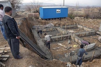 بازسازی واحدهای مسکونی زلزله زدگان ثلاث باباجانی