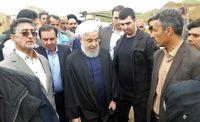 بازدید روحانی از مناطق سیلزده پلدختر +عکس