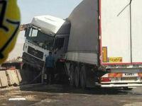 واژگونی تریلی در محور تهران-شهریار