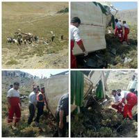 سقوط مینی بوس به دره با ۱۱ کشته +عکس