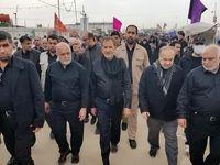 وزیر ورزش در راهپیمایی اربعین +عکس