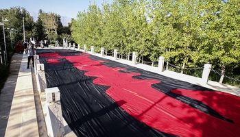 داستان پرچم 1000 متری امام حسین چه بود؟ +فیلم