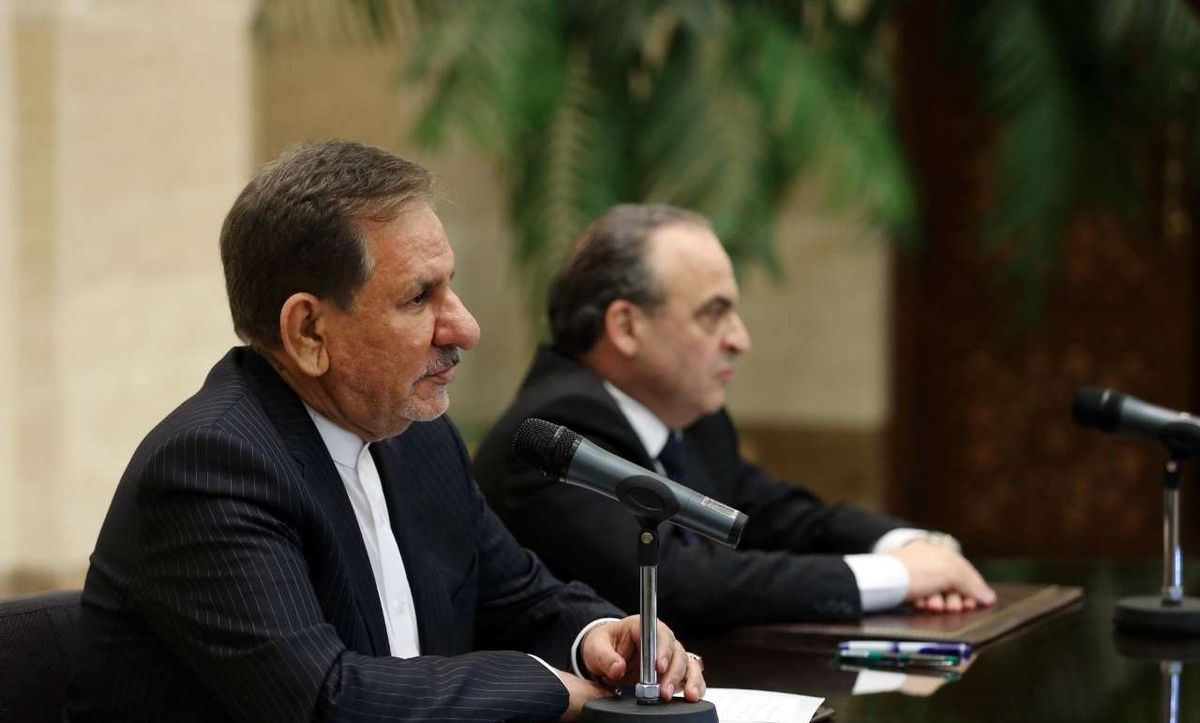جهانگیری: ایران پیروزی ملت و دولت سوریه را پیروزی خود میداند/ پیشنیاز هر اقدام اقتصادی همکاری بانکی است