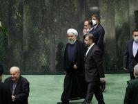 حضور رییس جمهور در افتتاحیه مجلس یازدهم +عکس