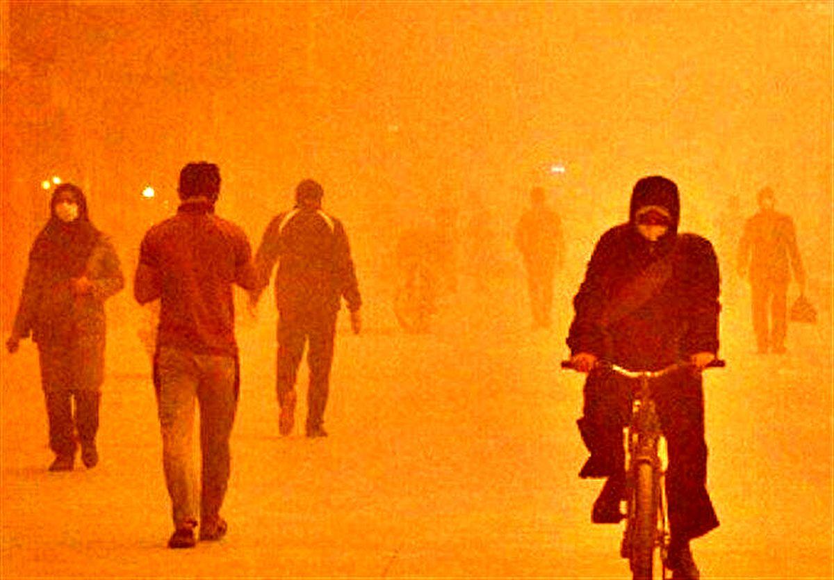 توده گردوغبار در راه خوزستان