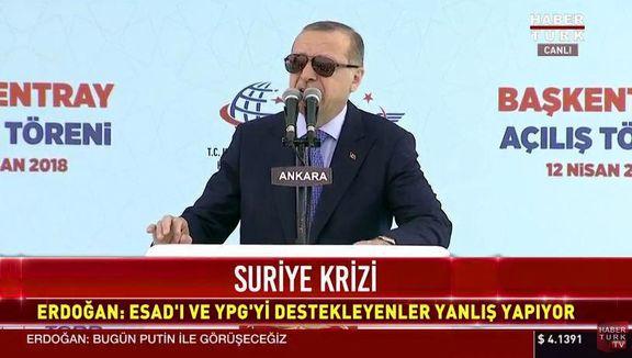تماس تلفنی اردوغان با پوتین و ماکرون درباره حمله به سوریه