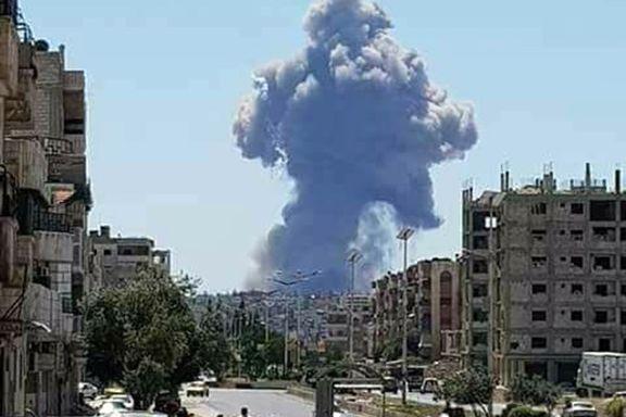 وقوع چند انفجار در اطراف فرودگاه نظامی «حماه» سوریه