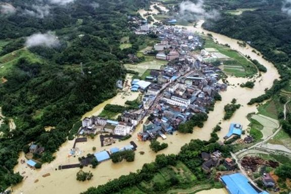 خسارات گسترده بارش شدید باران در چین +تصاویر