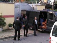 خروج چمدان از سفارت عربستان با ون مشکی مشکوک