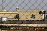 اصابت ۱۱عدد راکت به سفارت آمریکا در بغداد