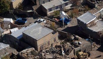 تصاویر هوایی از مناطق زلزله زده میانه +تصاویر