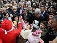 احمدی نژاد در نیسان آبی در رودسر گیلان +فیلم