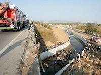 تصادف وحشتناک اتوبوس در ترکیه +فیلم