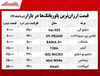 قیمت ارزانترین پاوربانک در بازار +جدول