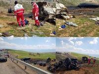 واژگونی مرگبار تریلی در جاده بروجرد +عکس