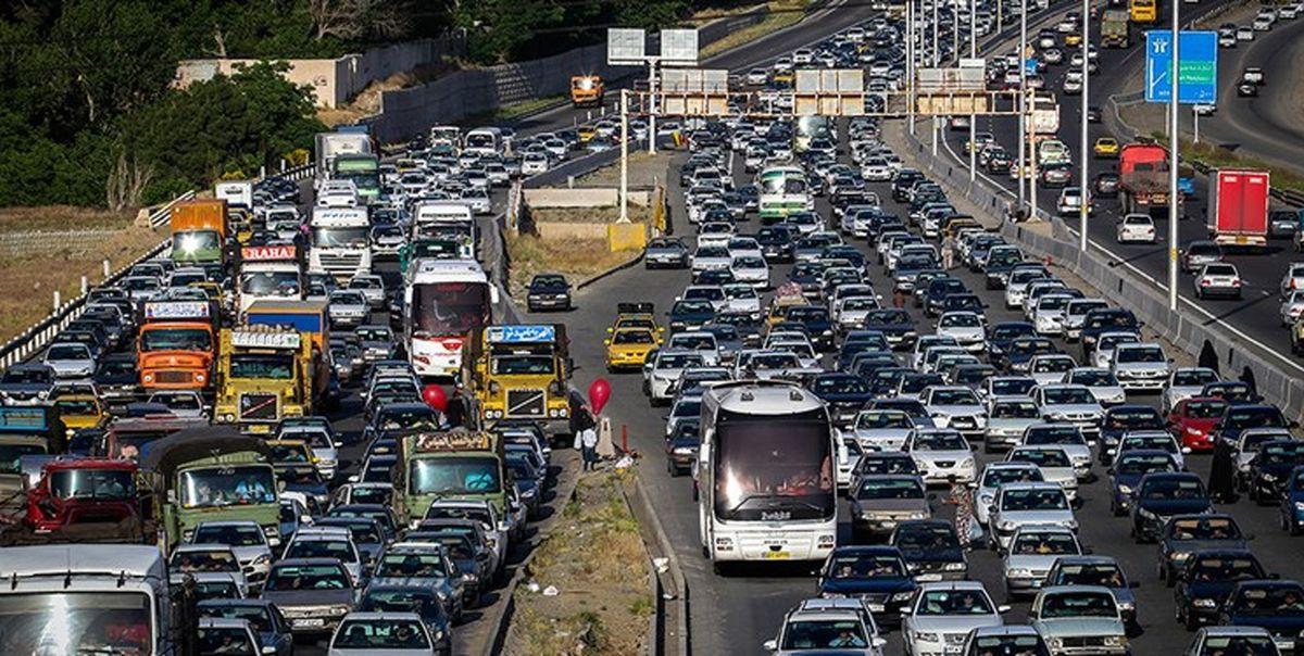 ترافیک سنگین در مسیر جنوب به شمال هراز و فیروزکوه