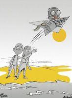 مهاجرت مغزها به دانشآموزان رسید! (کاریکاتور)