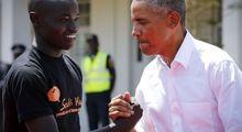 حضور اوباما در زادگاه پدری +تصاویر