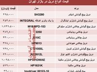 نرخ انواع دریل در بازار تهران چند؟ +جدول