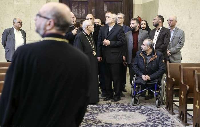 دیدار صالحی با اسقف اعظم ارامنه