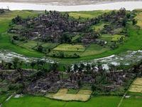 محل سابق سکونت مسلمانان روهینگیا که به آتش کشیده شد +تصاویر