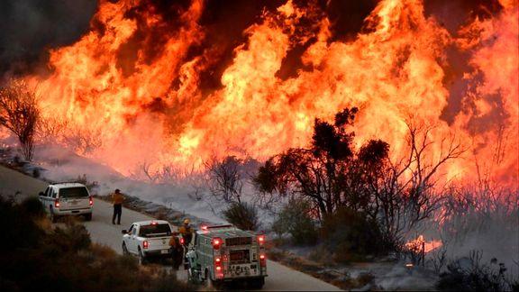 کالیفرنیا در محاصره آتش +فیلم